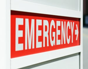 Emergency Sign Symbolizes Issues with Dental Emergencies